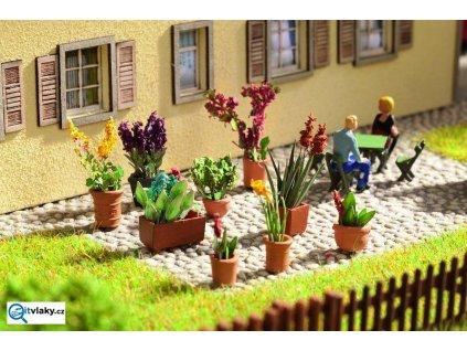 H0 - Okrasné sestavené rostliny v květináči, 9ks / NOCH 14012