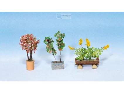 H0 - Okrasné rostliny v květináčích, 3 ks/ NOCH 14014