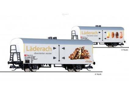 """TT - Chladící vůz """"Läderach"""", SBB / Tillig 14019"""
