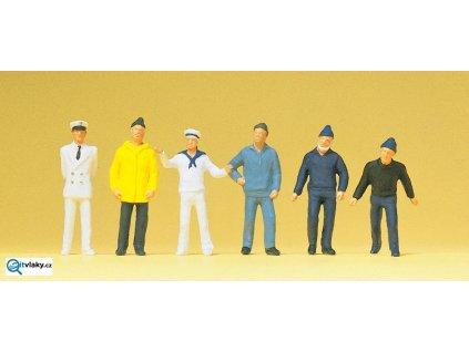 H0 - Posádka lodi, 6 figurek / Preiser 14062