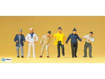 H0 - Posádka lodi, 6 figurek / Preiser 14063