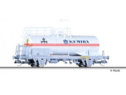 """TT - cisternový vůz """"VTG, Kemira"""" , SBB  / Tillig 14974"""