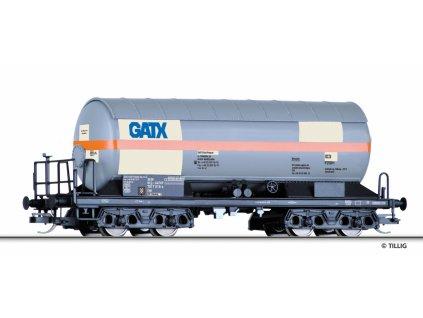 """TT -  kotlový vůz na plyn Zags """"GATX Rail Polska"""" s clonou / Tillig 15008"""