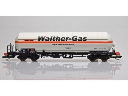 TT - kotlový vůz na přepravu plynu se s clonou,  Walther-Gas / Tillig 15034