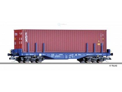 TT - plošinový vůz Sgmmns 4505 ložený konetejnerem, ERR  / Tillig 15150