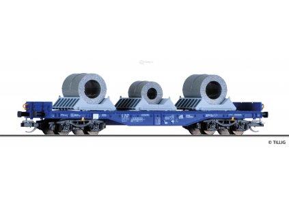 TT - plošinový vůz Sgmmns 4505 ERR, European Rail Rent s nákladem/ Tillig 15152