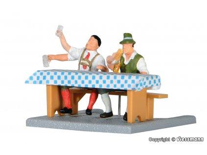 AKCE! H0 - Muži pijící pivo / Viessmann 1525