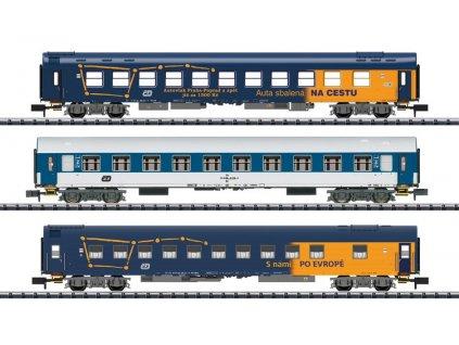 N - set 3 vozů ČD, lůžkový a lehátkový / TRIX 15737