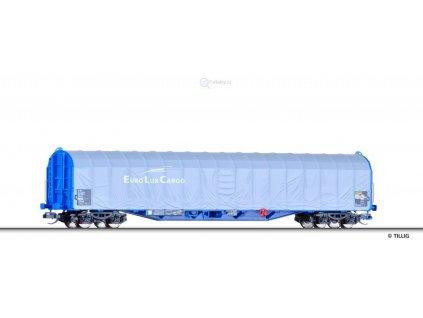 TT - Vůz s posuvnou plachtou EuroLuxCargo, DB AG / Tillig 15747