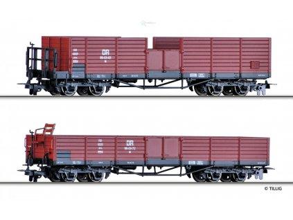 H0m - set dvou otevřených vozů OO, DR / Tillig 15921