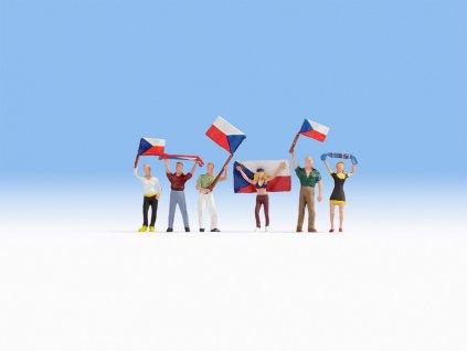 H0 - Čeští fanoušci s vlajkami / NOCH 15988
