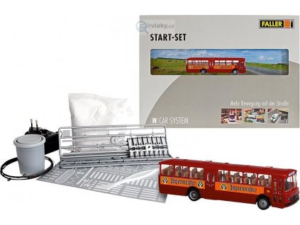 H0 Startset autobus MB O317k Bus Jägermeister - CAR SYSTEM / FALLER 161498
