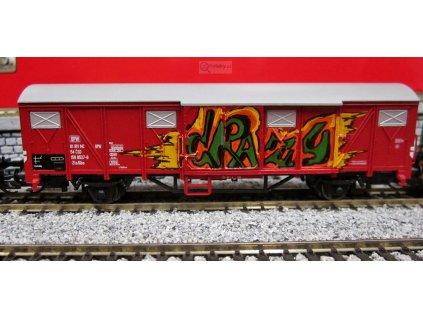 ARCHIV TT - krytý nákladní vůz Gbs, ČSD s GRAFFITI / Tillig 17151