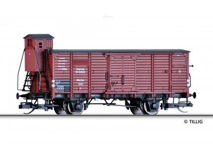 TT -  krytý nákladní vůz DRG s brzdařskou budkou / Tillig 17352