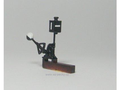 TT - Imitace výhybkového návěstidla bílá, ručně stavěné výhybky / ES Pečky 19318