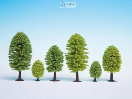 H0/TT - Set listnatých stromů - 25 ks / Noch 26801