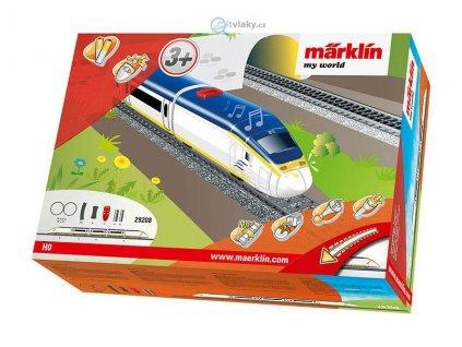 ARCHIV H0 - Dětský start set - rychlovlak Eurostar, zvuk, koleje / Marklin 29208