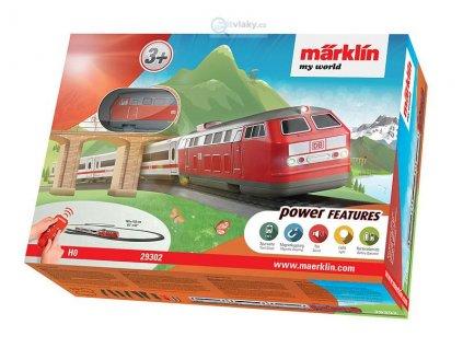 H0 - Dětský start set expres Intercity, zvuky, doplňky / Marklin 29302