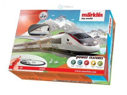 ARCHIV H0 - Dětský start set - rychlovlak TGV Lyria, zvuk, koleje / Marklin 29304