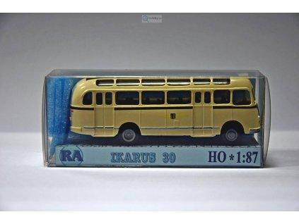 H0 - Ikarus 30 Dresden, bílá/hnědá / RA Došlý 300500