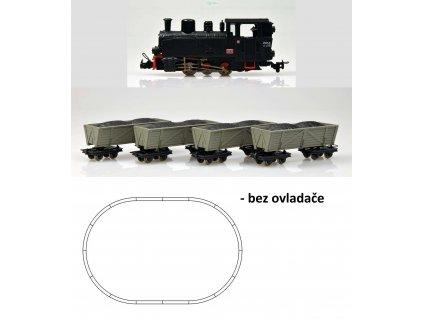 H0e - Start set: úzkorozchodná parní lokomotiva a 4 vozy / ROCO 31029