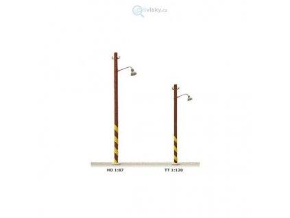 TT - Staniční lampa na dřevěném stožáru typ A žlutá LED / JM Detail 311110