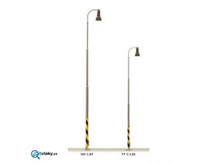 TT - Nádražní lampa na ocelovém stožáru, bílé světlo / JM Detail 311201