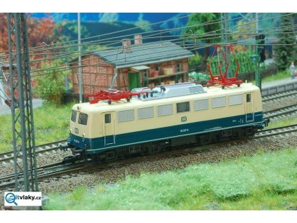 TT - elektrická lokomotiva 110.1 DB modro béžová/ Kuehn 31200