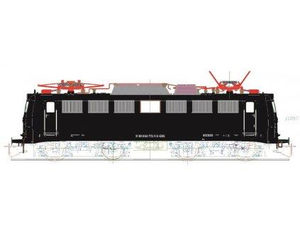 """TT - elektrická lokomotiva 140 """"Erfurter Bahnservice"""" černá, / Kuehn 31224"""