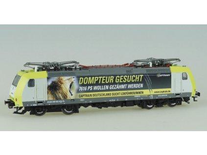 """TT - Lokomotiva ř. 185 Captrain """"Dompteur gesucht"""" / KUEHN 32304"""