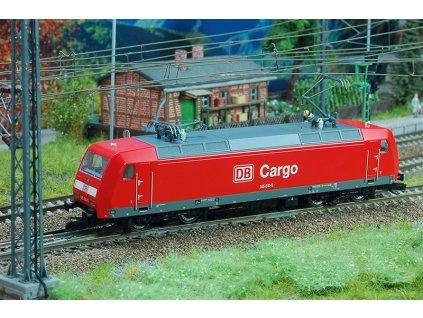 TT - elektrická lokomotiva BR 145, DB Cargo, červená / Kuehn 32410