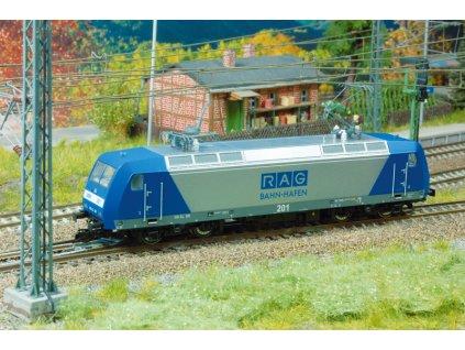 TT - elektrická lokomotiva BR 145 modrostříbrná RAG / Kuehn 32412