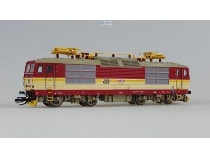 TT - elektrická lokomotiva 371 se žlutým pruhem ČD / KUEHN 32930