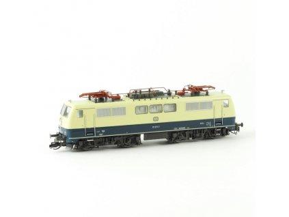 TT - elektrická lokomotiva řady 111 béžová/modrá / Kuehn 33100
