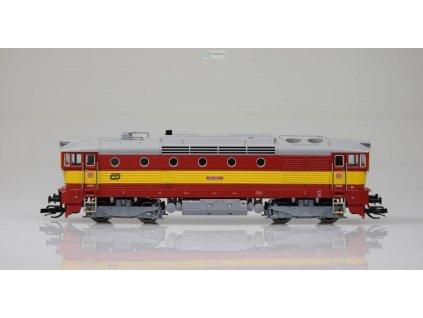 TT - Lokomotiva 750 385-7 ČD Brejlovec červenožlutý / KUEHN 33312