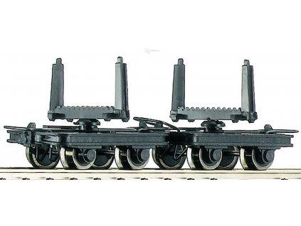 H0e - Set 2 plošinových vozů s oplenem / ROCO 34602