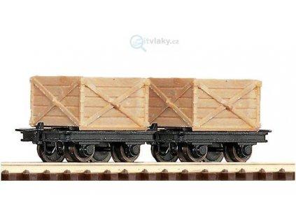 H0e - 2-dílný set vozů s bednami / ROCO 34603