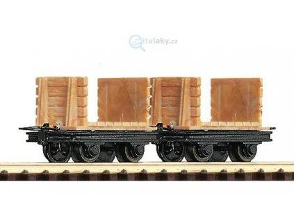 H0e - 2-dílný set plošinových vozů / ROCO 34604