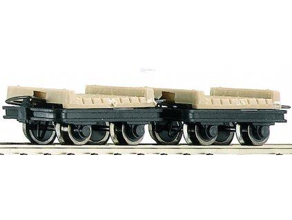 H0e - 2-dílný set plošinových vozů / Roco 34607