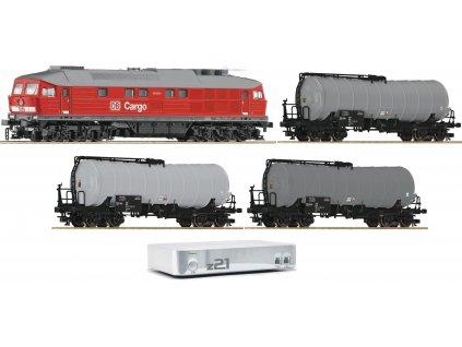 Vyprodáno TT - DCC Start Set - lokomotiva BR 241 + 3 cisterny + z21/ Roco 35009