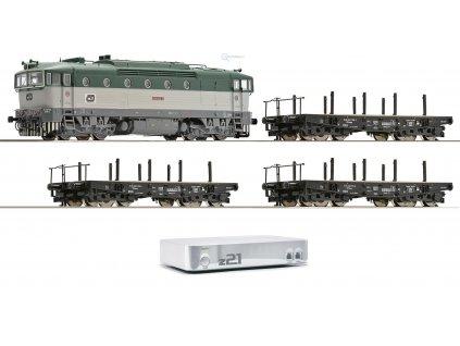 Vyprodáno TT - DCC start set ČD lokomotiva Brejlovec 750 + 3 vozy + z21/ Roco 35016