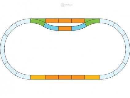 G - Rozšiřující set kolejí, nádraží / Piko 35300