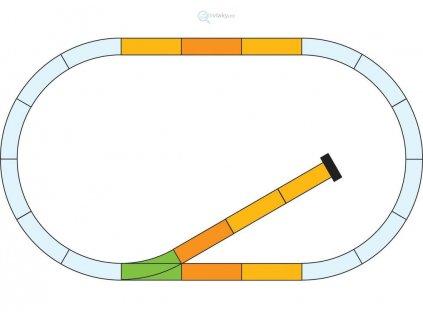 G - Rozšiřující set kolejí, odstavná kolej / Piko 35301