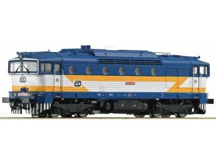 TT - lokomotiva 754 019 ČD Brejlovec / ROCO 36252