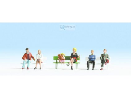 N - Sedící postavičky bez laviček / NOCH 36530