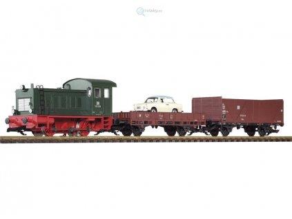 G - ANALOG/ZVUK Start set diesel. lokomotiva V 20 a 2 nákladní vozy/ PIKO 37121