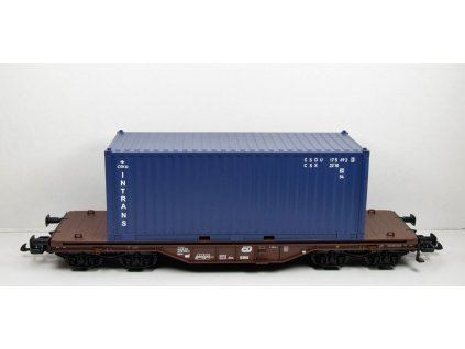SLEVA! G - Plošinový vůz s kontejnerem Intrans / PIKO 37728
