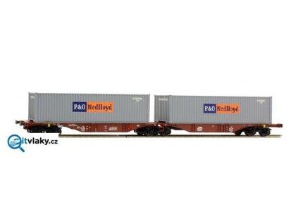 H0 - Souprava kontejnerových vozů  ČD CargoP&OSggmrss 90/ A.C.M.E. 40251
