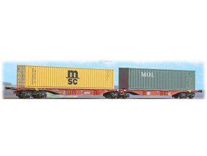 H0 - set dvou kontejnerových vozů ČD Sggmrss MSC a MOL/ A.C.M.E. 40259