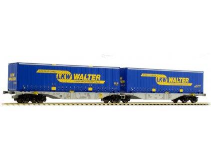ARCHIV H0 - plošinový vůz ložený kontejnery LKW WALTER/A.C.M.E. 40273